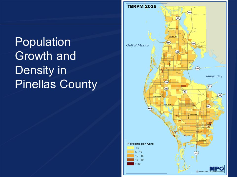 Population Growth and Density in Pinellas County