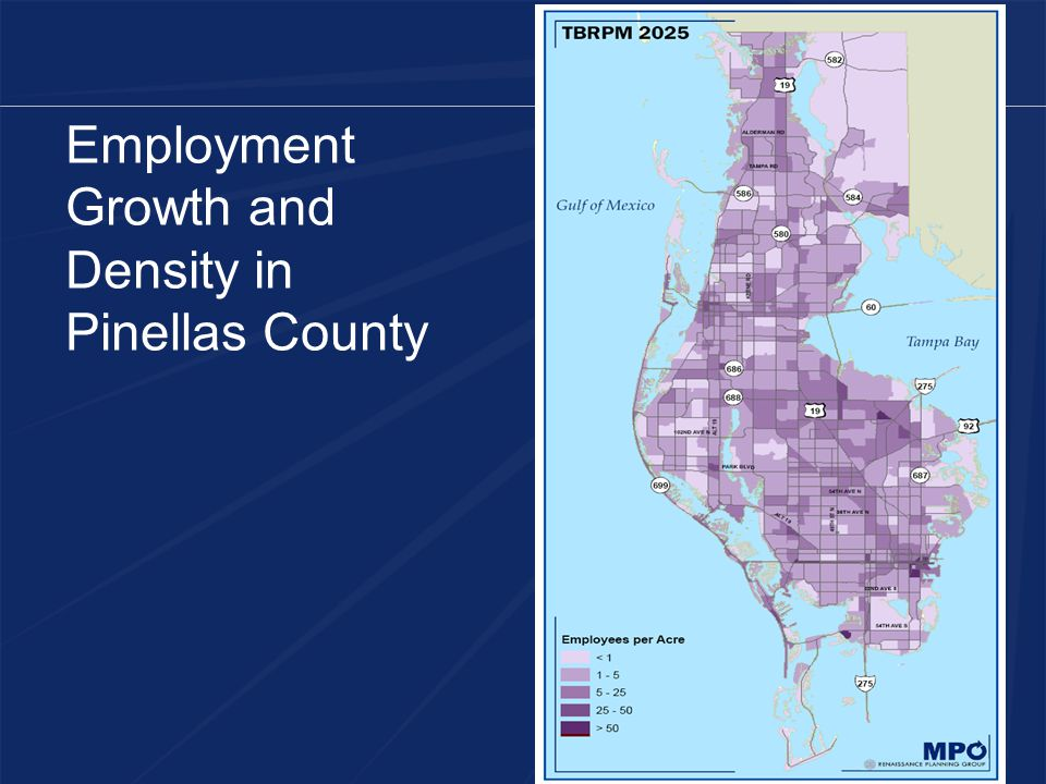 Employment Growth and Density in Pinellas County