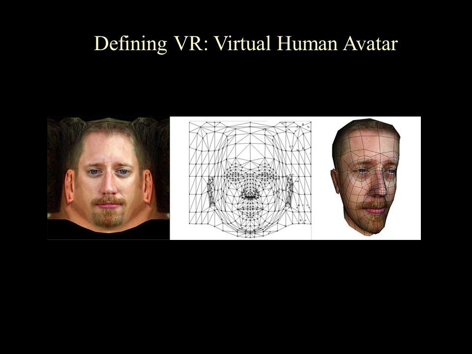 Defining VR: Virtual Human Avatar