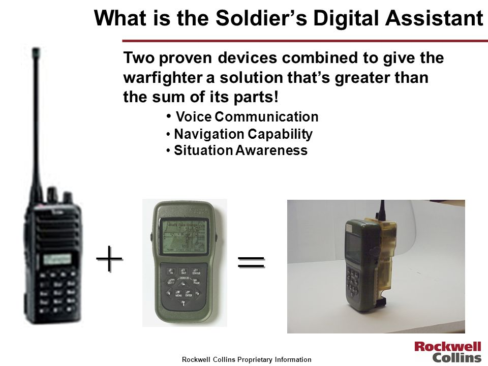 What is the Soldier's Digital Assistant
