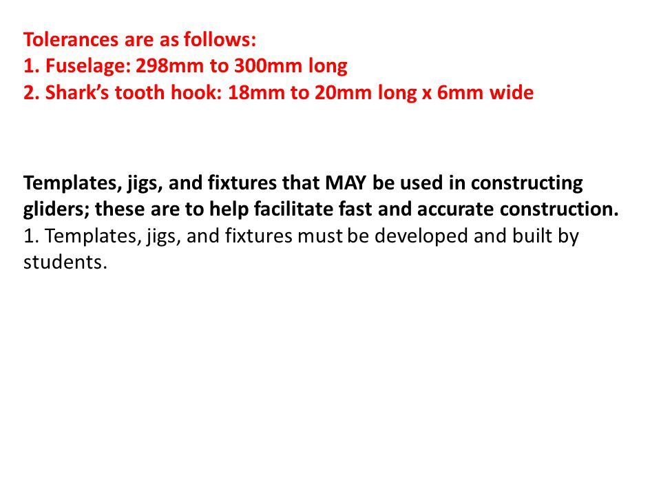 Tolerances are as follows: