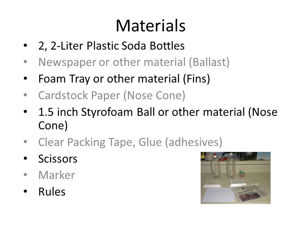 Materials 2, 2-Liter Plastic Soda Bottles