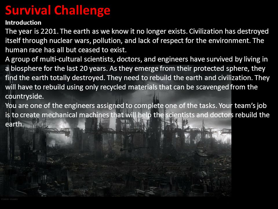 Survival Challenge Introduction.