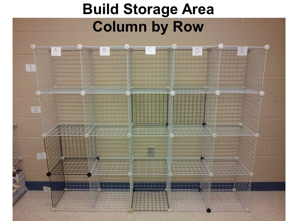 Build Storage Area Column by Row