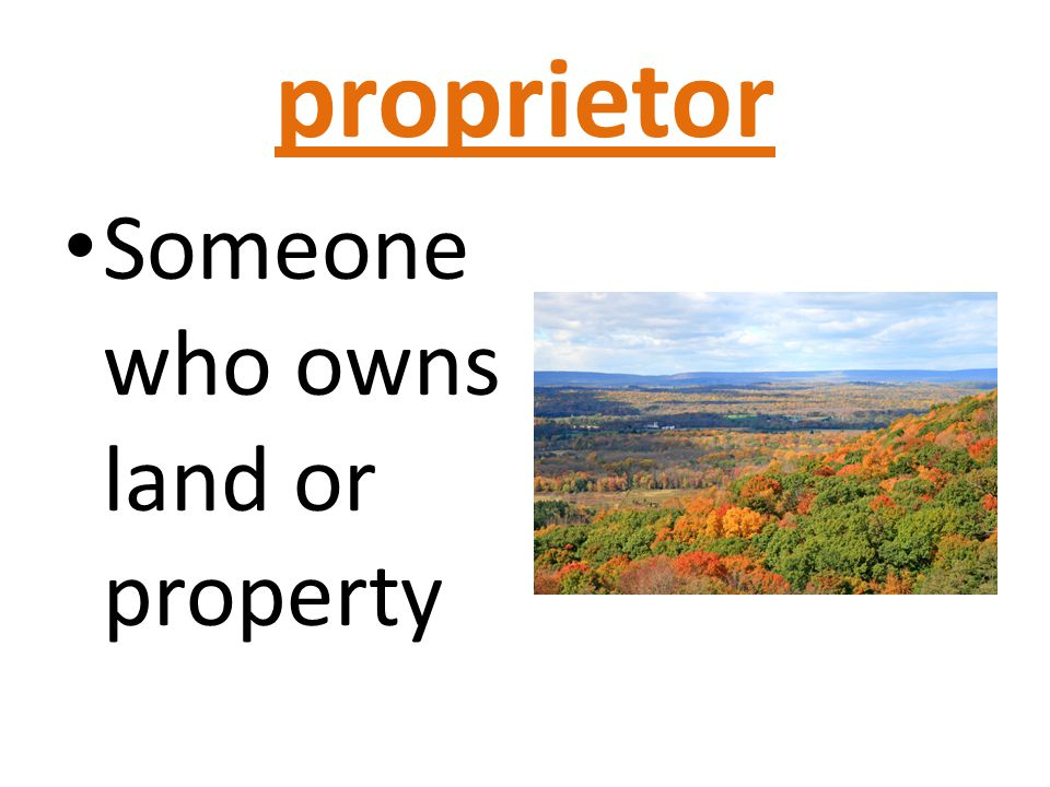 Proprietor Of Land