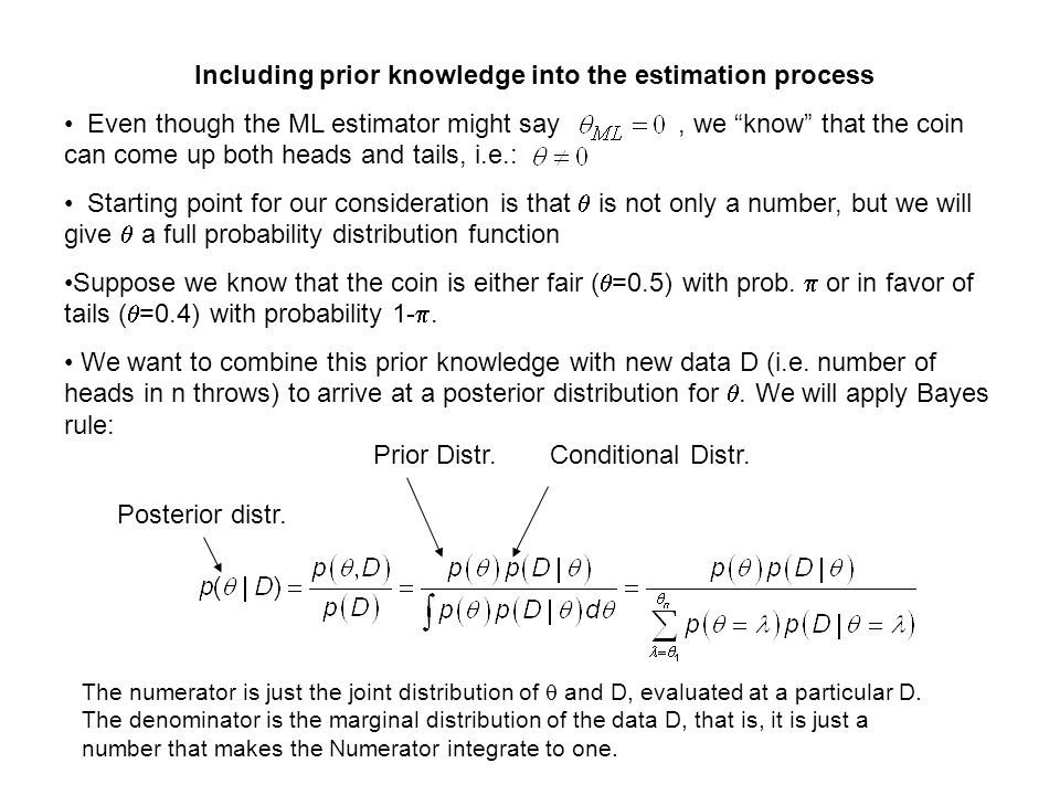 Including prior knowledge into the estimation process