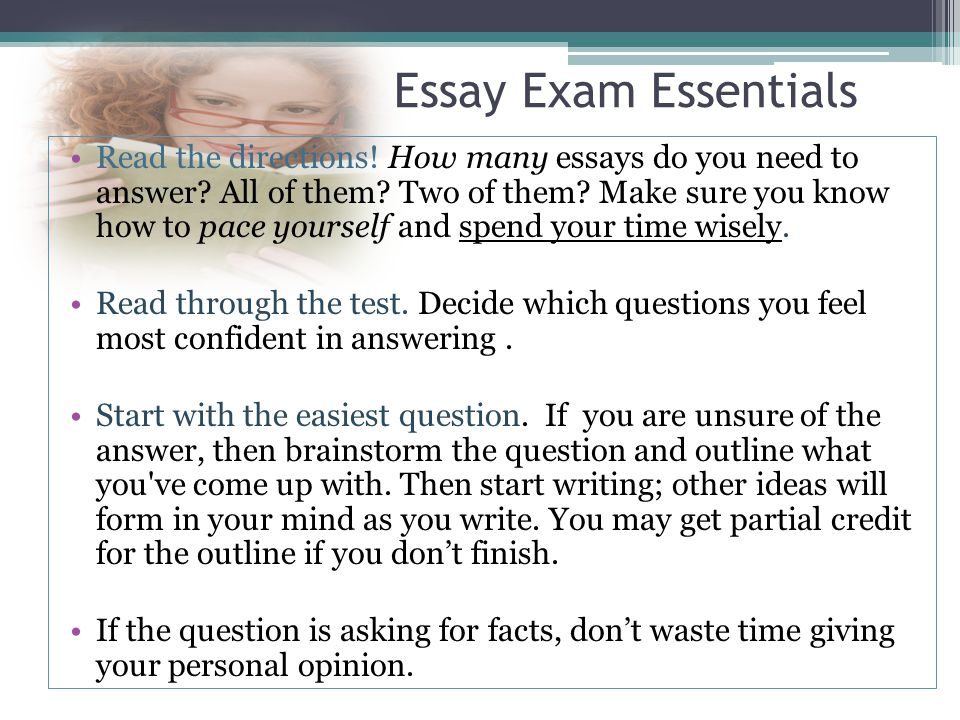 essay on test taking skills Online quiz and test taking strategies act tests will also include a writing section it is important that students develop strategies for attacking this essay.