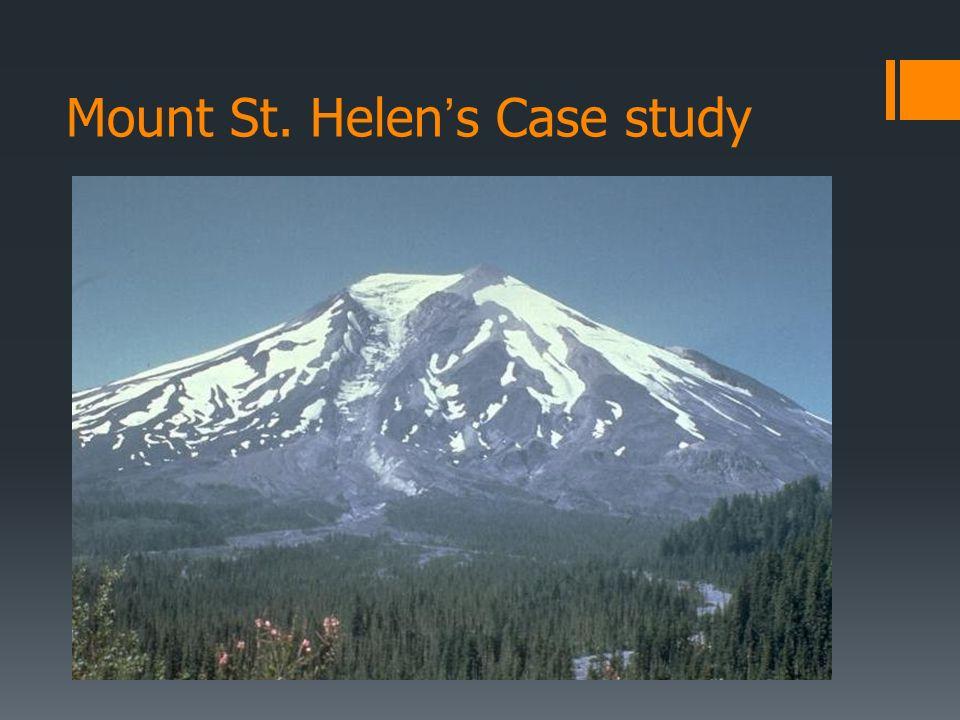 Mount St. Helen's Case study