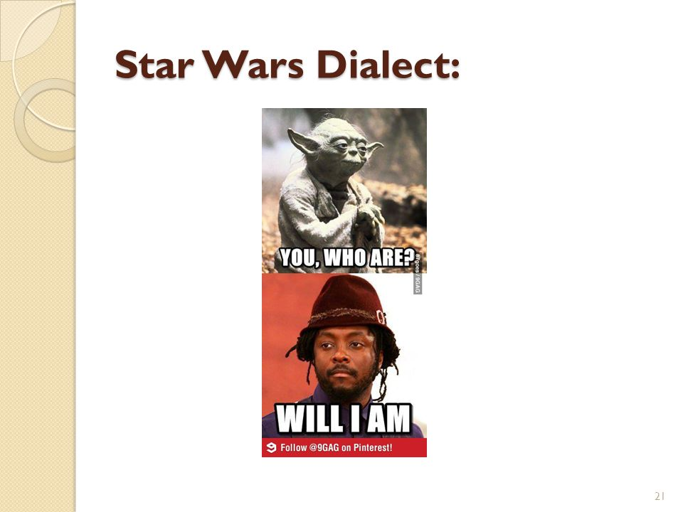 Star Wars Dialect: