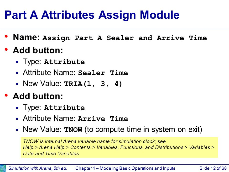 Part A Attributes Assign Module