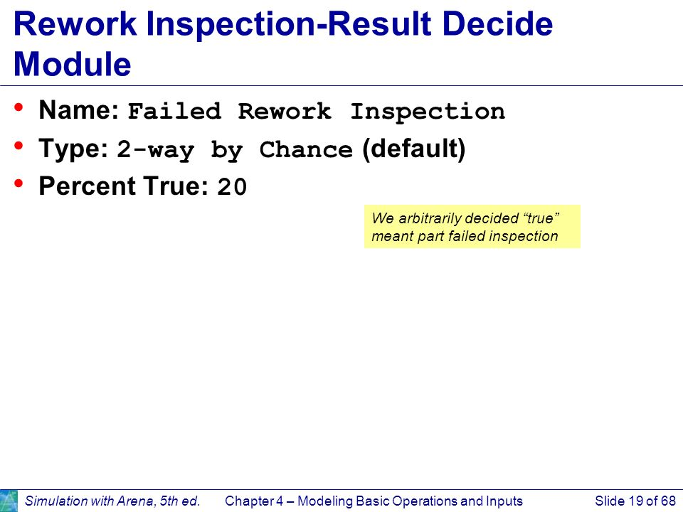 Rework Inspection-Result Decide Module