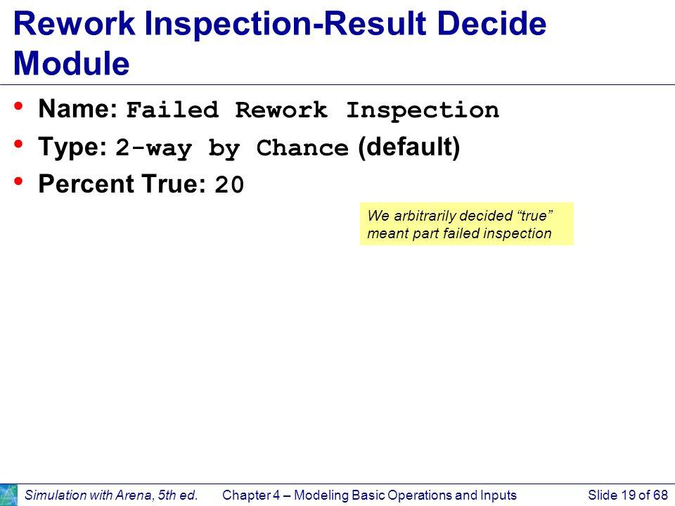 Rework Inspection-Result Decide Module