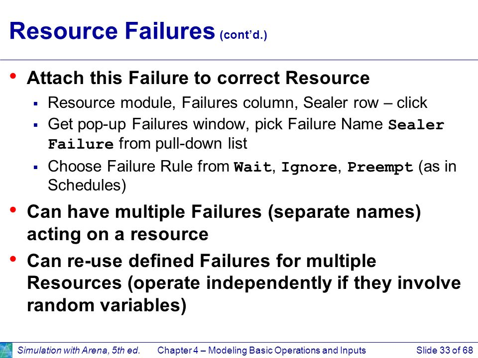 Resource Failures (cont'd.)