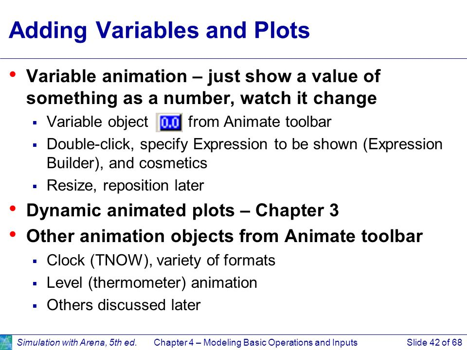 Adding Variables and Plots