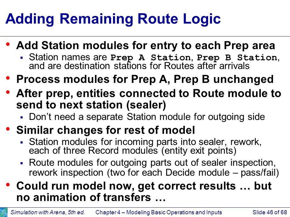 Adding Remaining Route Logic