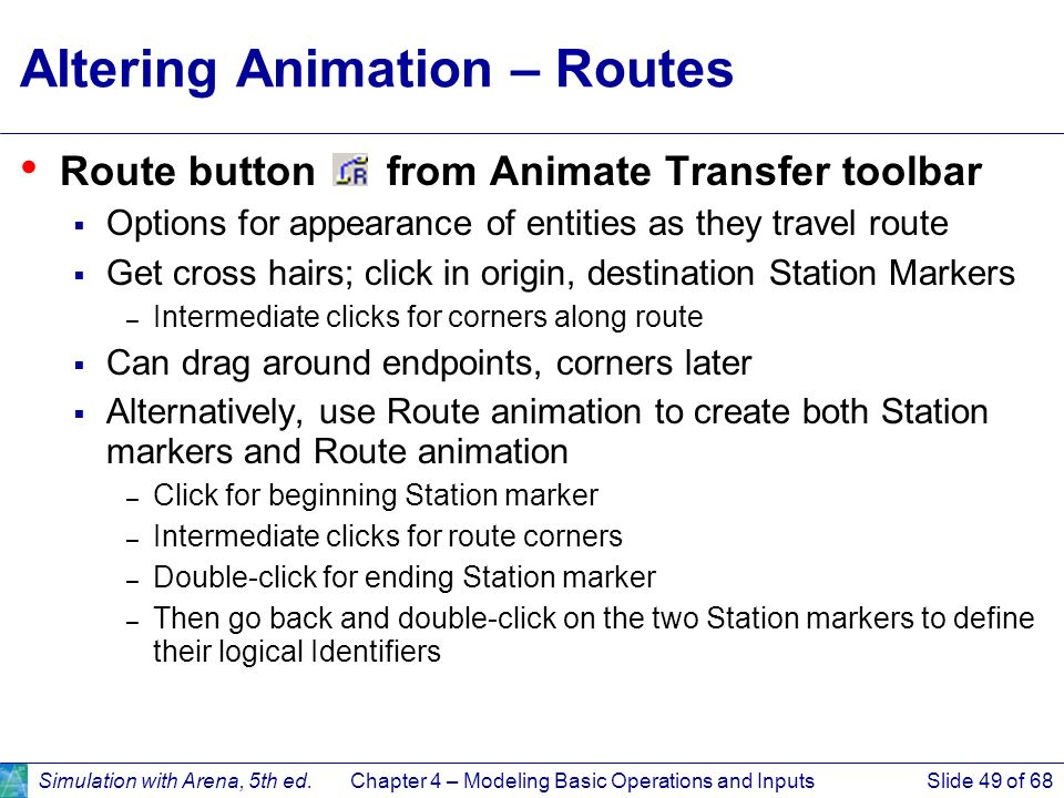 Altering Animation – Routes