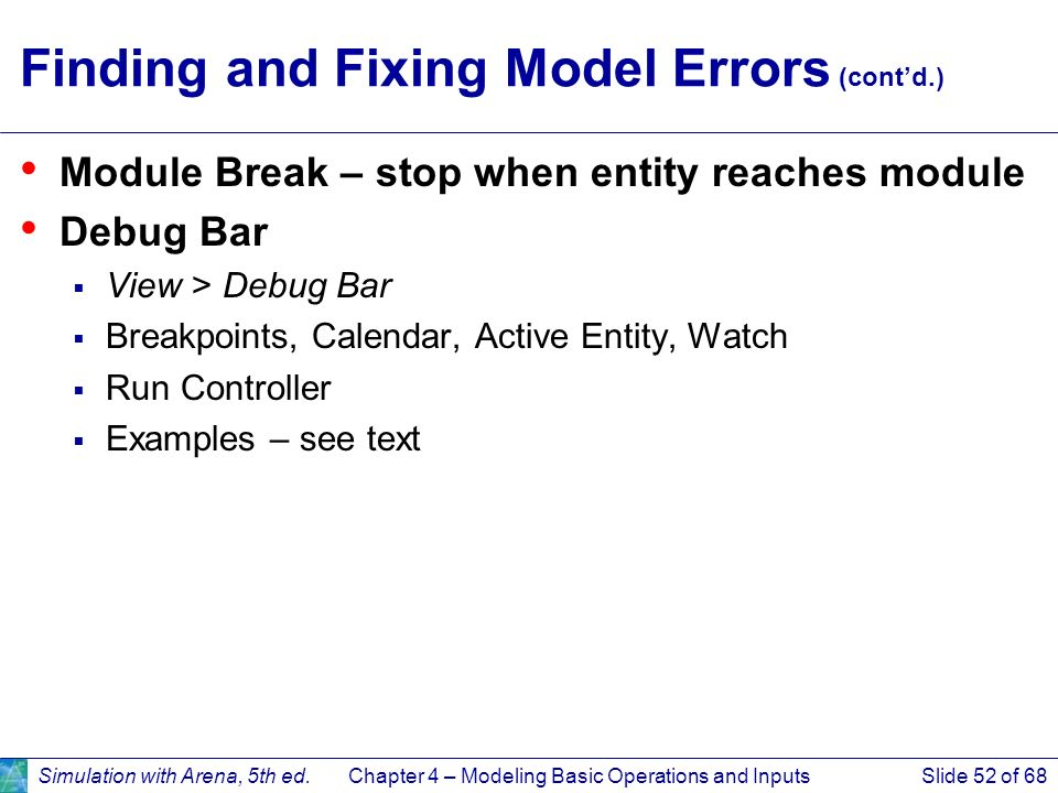 Finding and Fixing Model Errors (cont'd.)