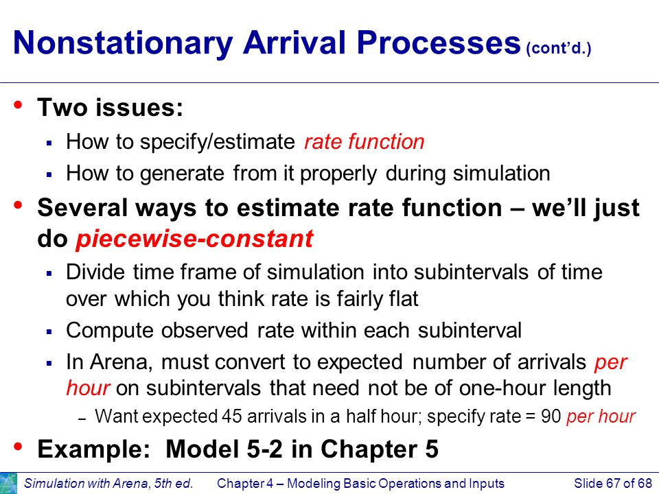 Nonstationary Arrival Processes (cont'd.)
