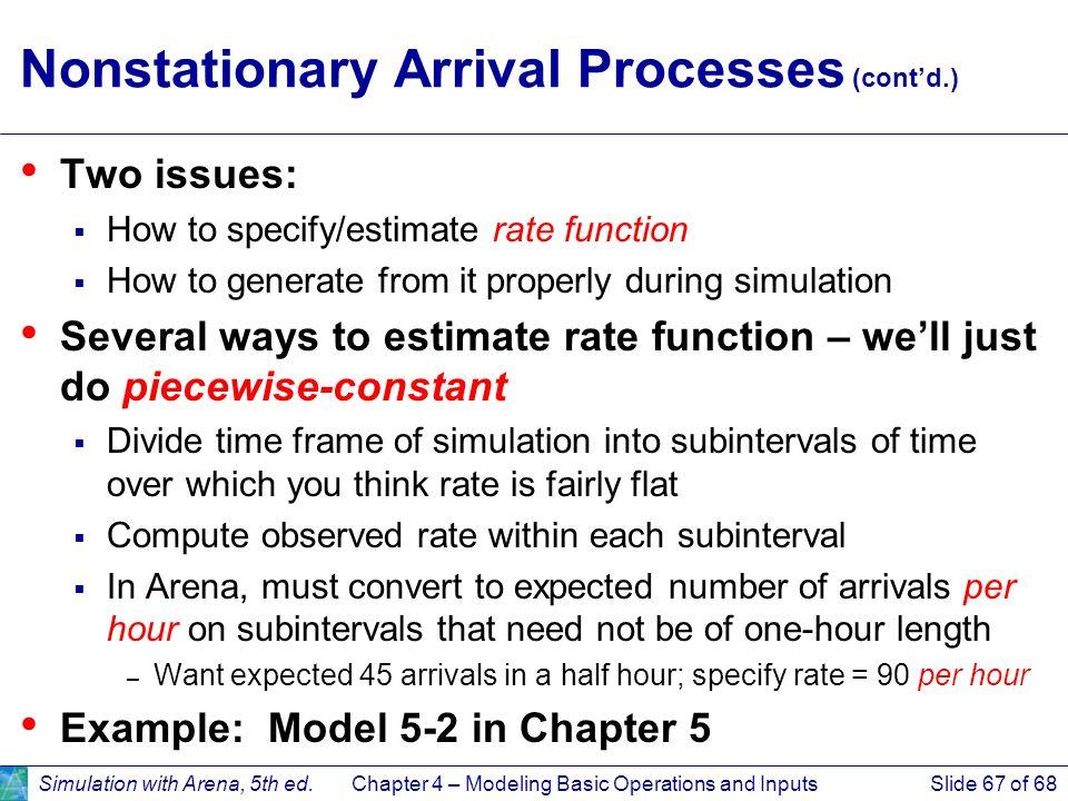 Nonstationary Arrival Processes (cont'd.)