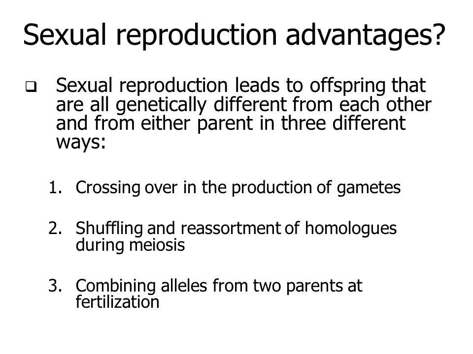 Sexual reproduction advantages