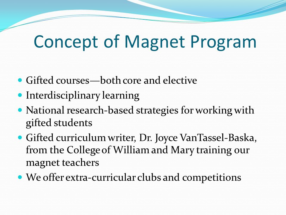 Concept of Magnet Program