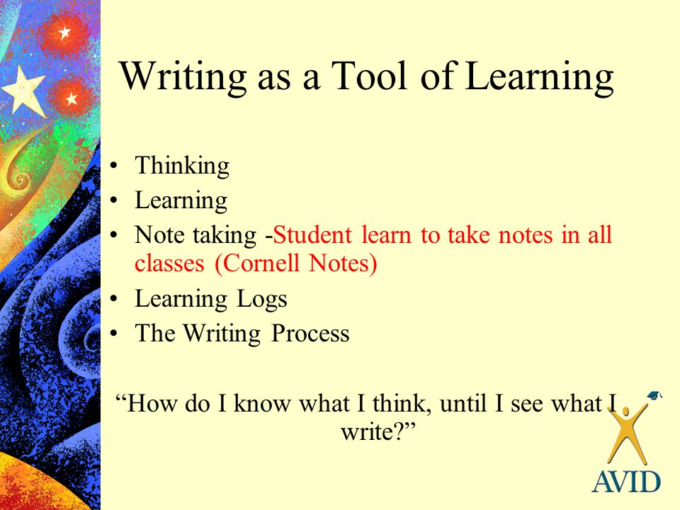 Writing as a Tool of Learning