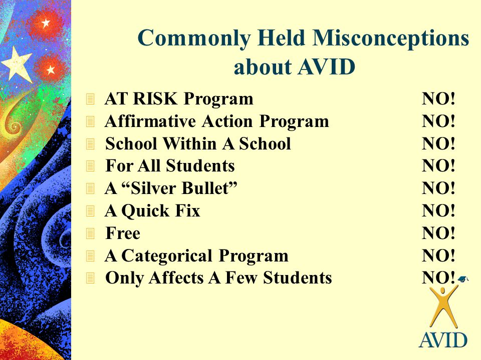 Commonly Held Misconceptions about AVID