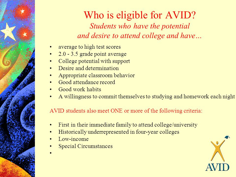 Who is eligible for AVID
