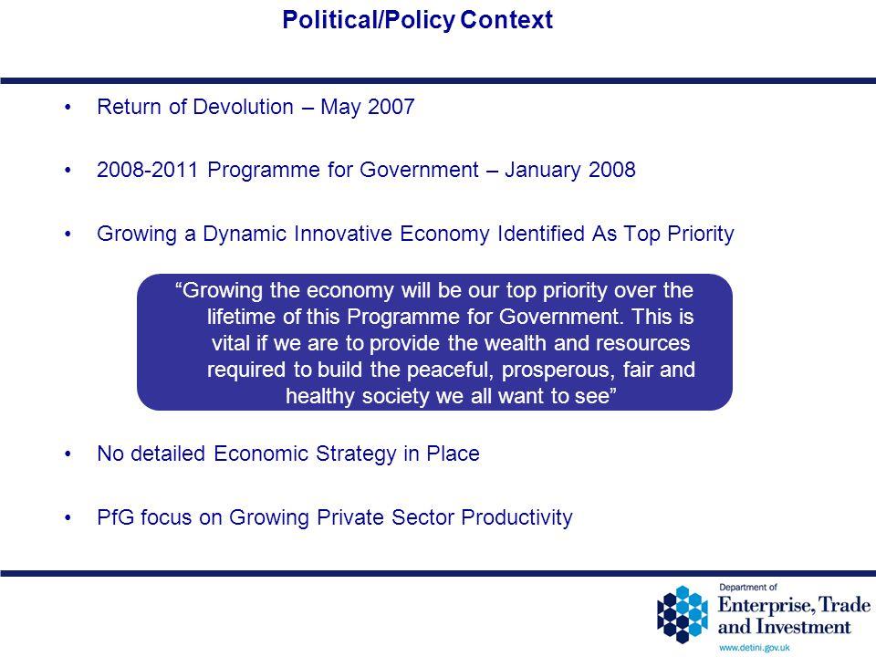 Political/Policy Context