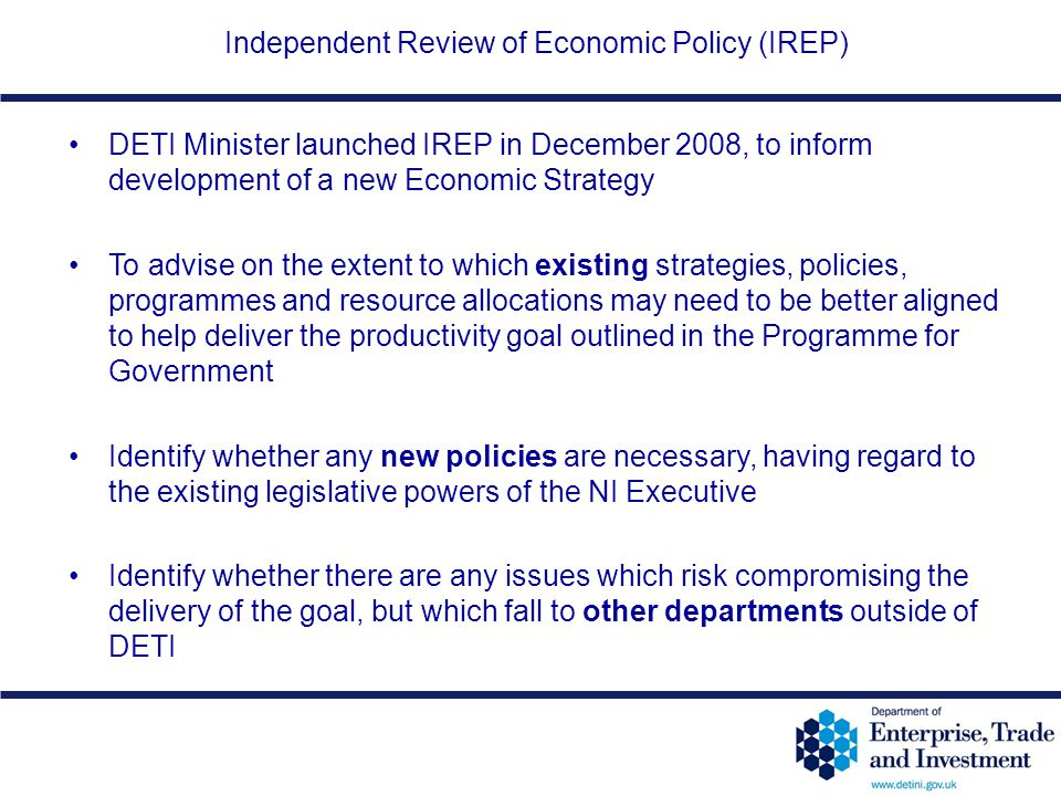 Independent Review of Economic Policy (IREP)