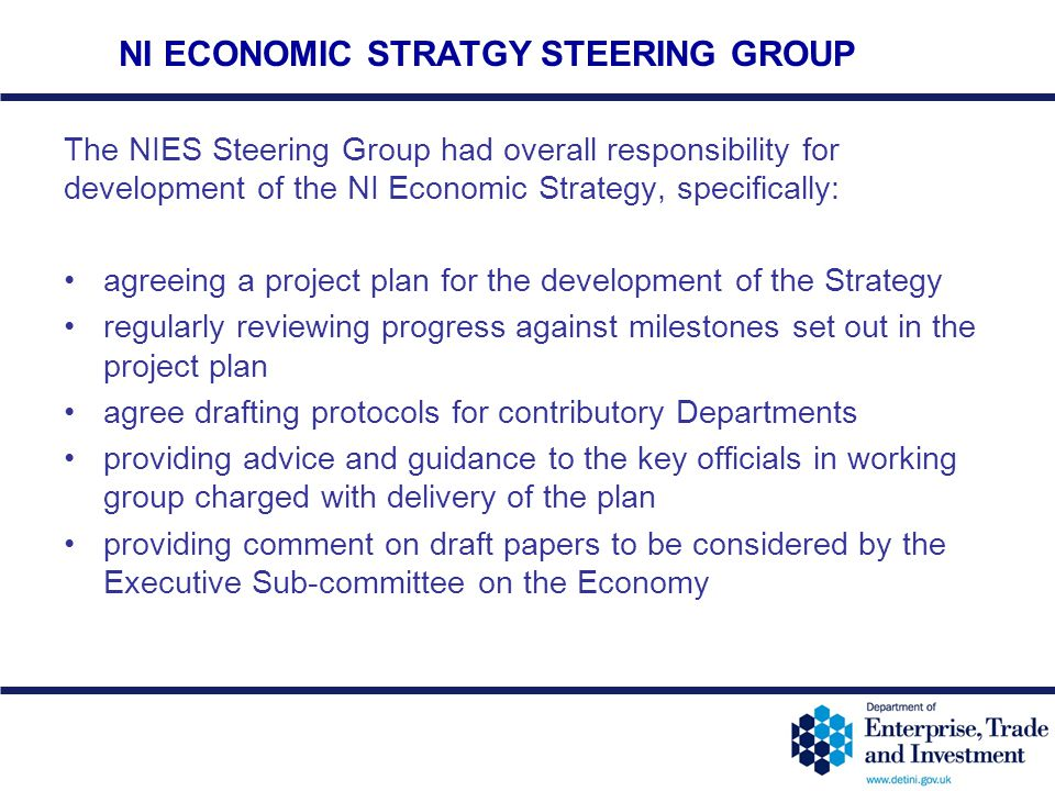 NI ECONOMIC STRATGY STEERING GROUP
