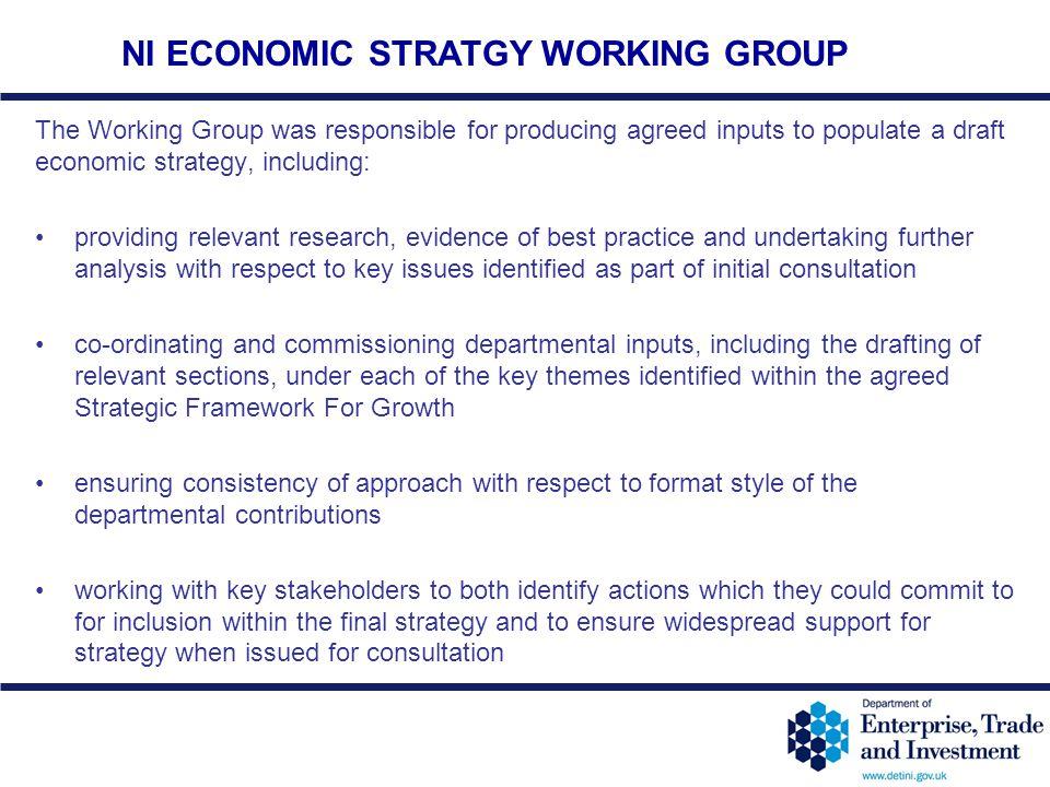 NI ECONOMIC STRATGY WORKING GROUP
