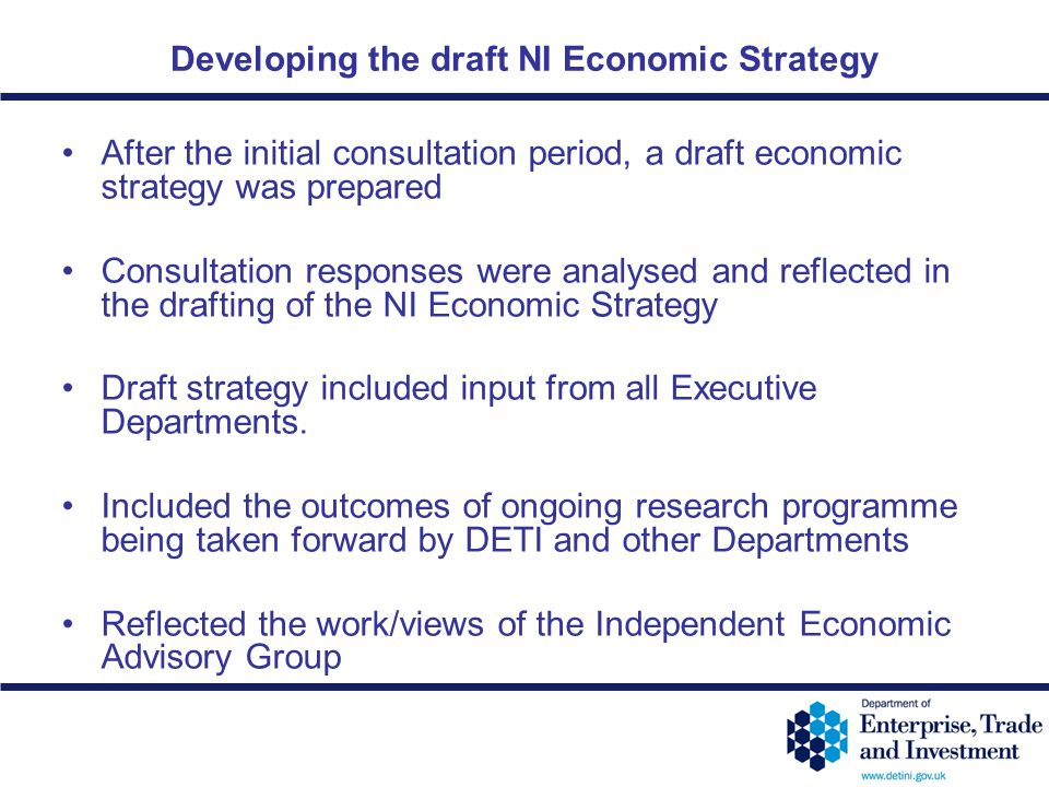 Developing the draft NI Economic Strategy