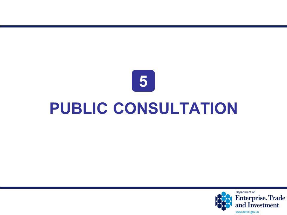 5 PUBLIC CONSULTATION