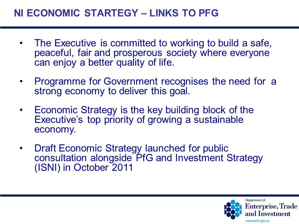 NI ECONOMIC STARTEGY – LINKS TO PFG