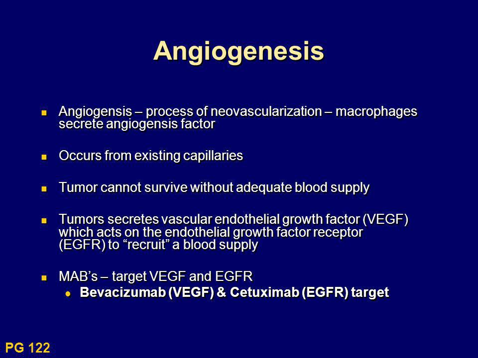 AngiogenesisAngiogensis – process of neovascularization – macrophages secrete angiogensis factor. Occurs from existing capillaries.