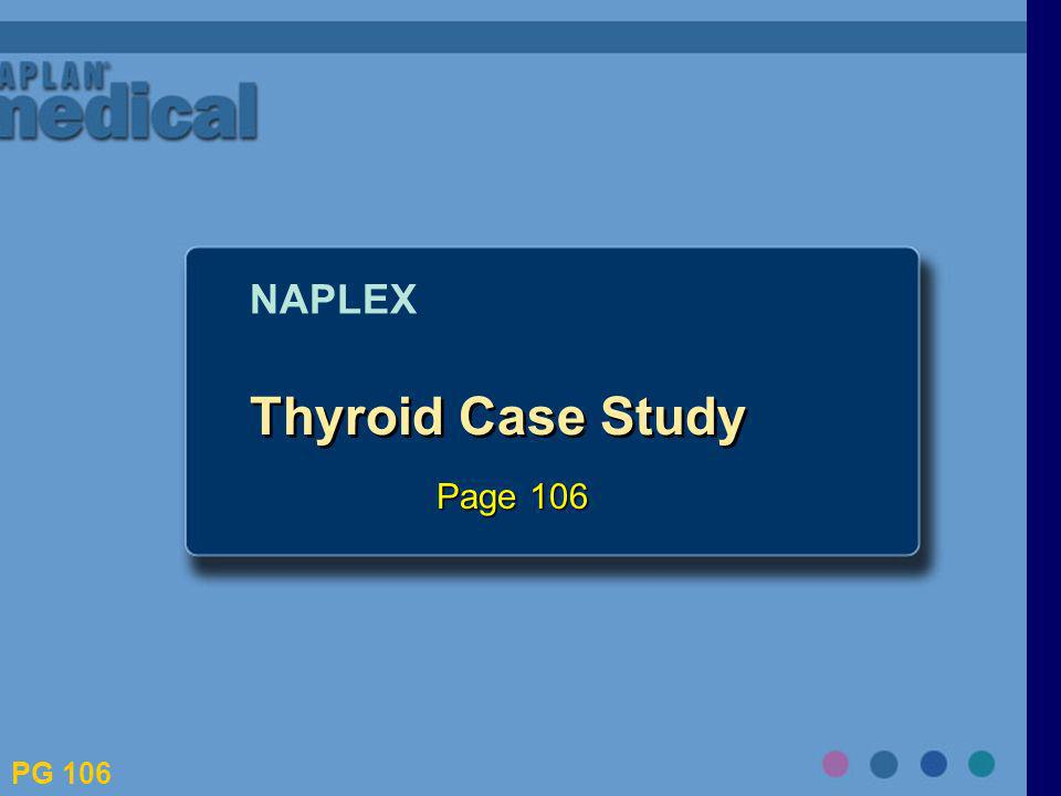 NAPLEX Thyroid Case Study Page 106 PG 106