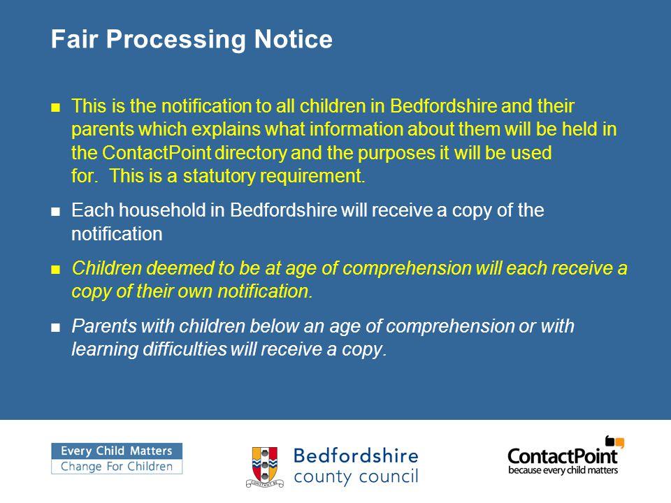 Fair Processing Notice