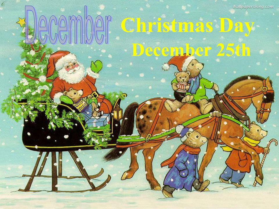 December Christmas Day December 25th