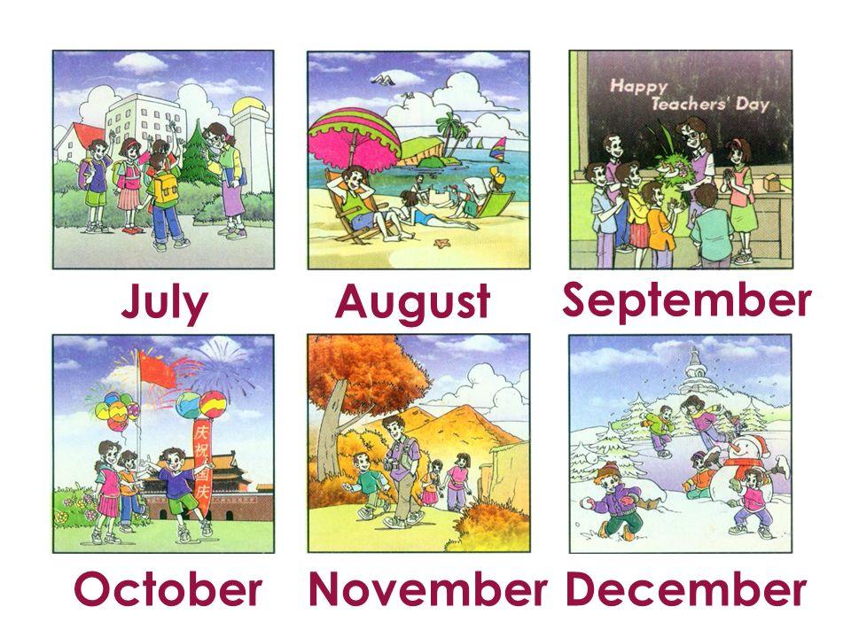 July August September October November December