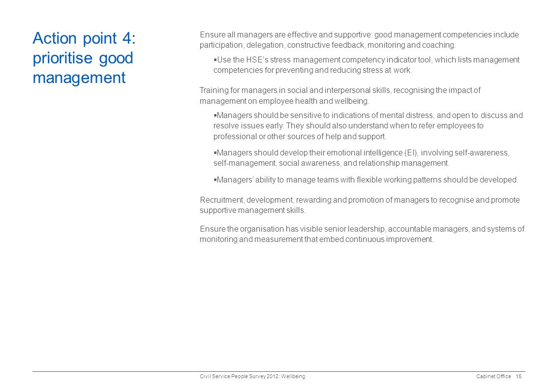 Action point 4: prioritise good management