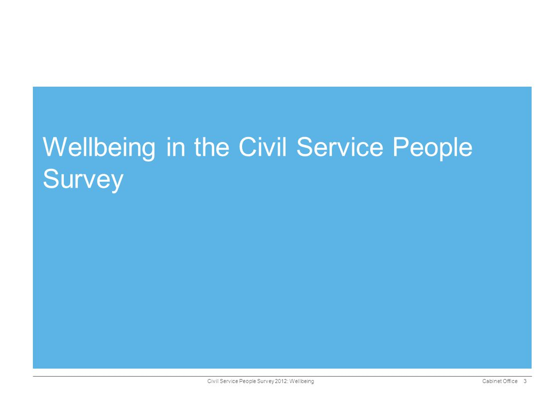 Wellbeing in the Civil Service People Survey