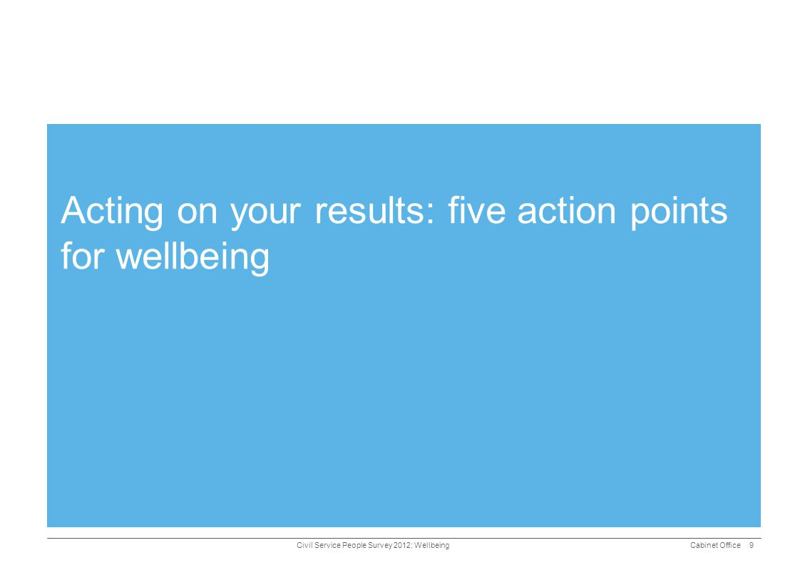 Acting on your results: five action points for wellbeing
