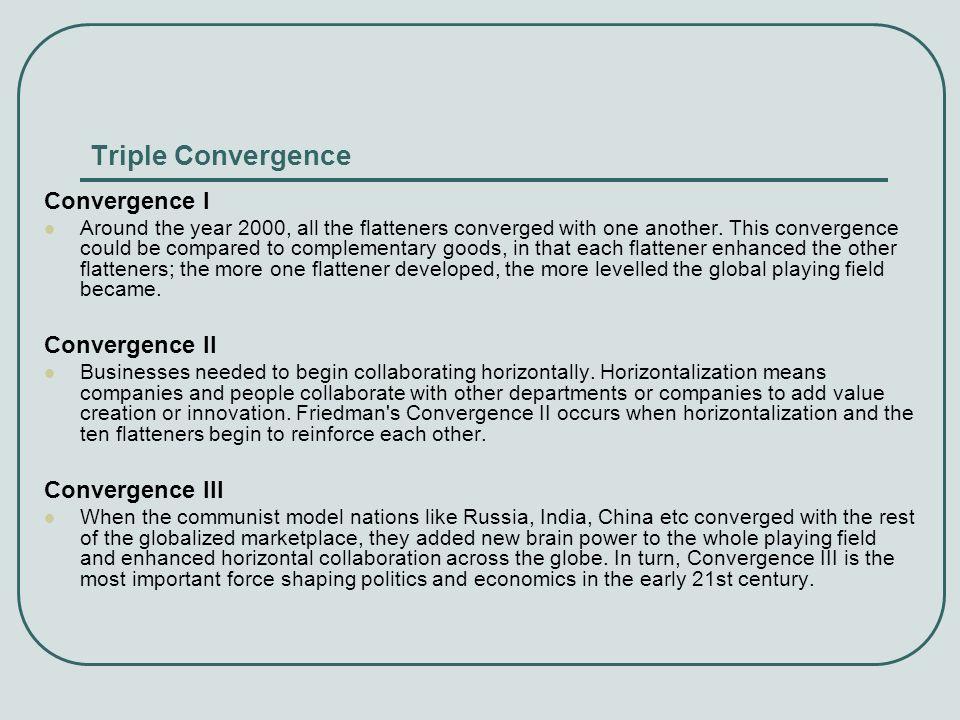 Triple Convergence Convergence I Convergence II Convergence III
