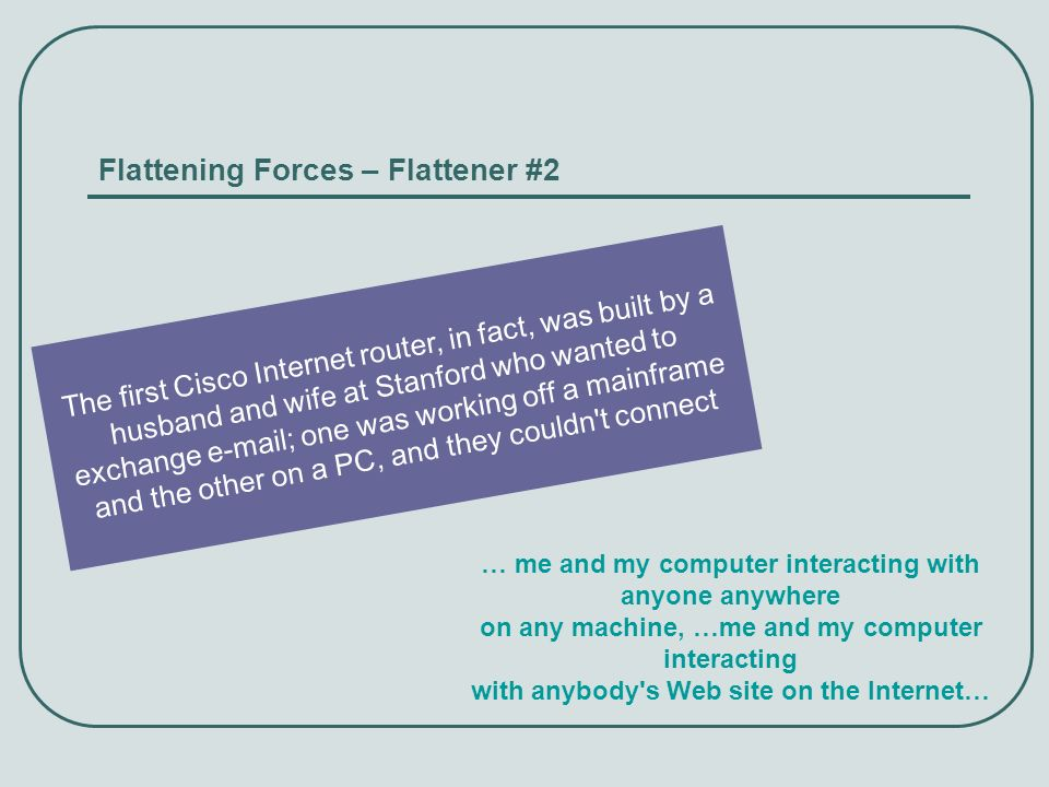 Flattening Forces – Flattener #2