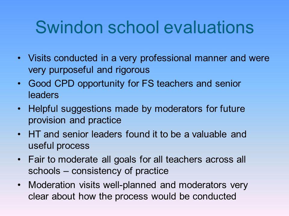 Swindon school evaluations
