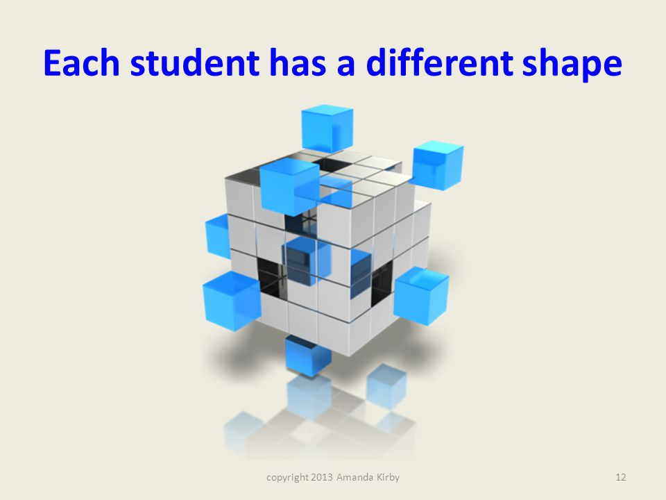 Each student has a different shape