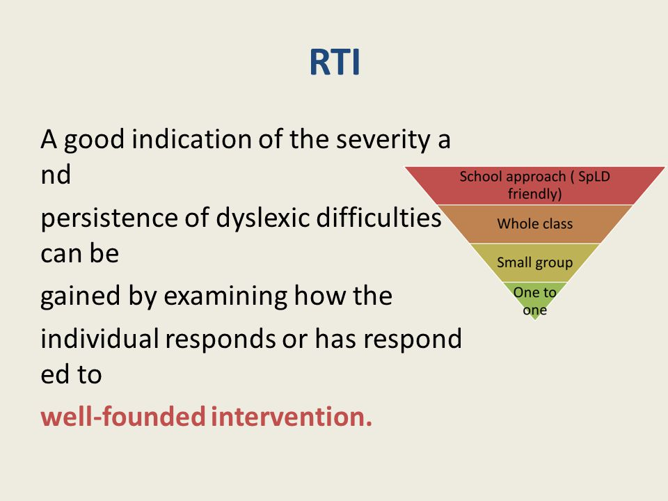 RTI A good indication of the severity and