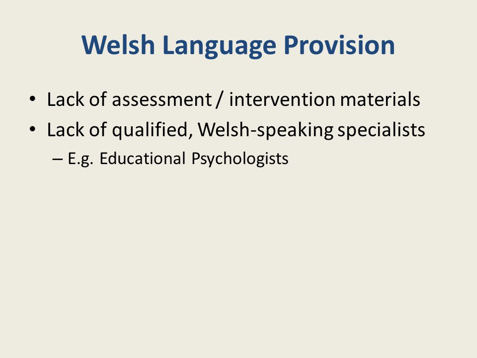 Welsh Language Provision
