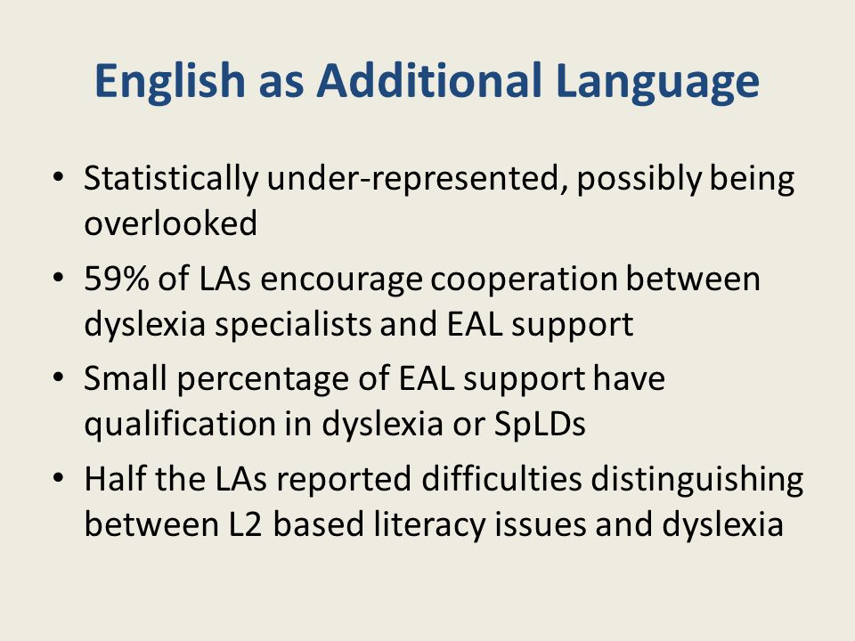 English as Additional Language